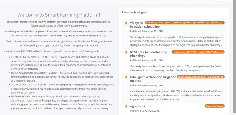 Smart Farming Platform tutorial available