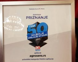 AgroSense Platform, winner of best 2017 app in Serbia